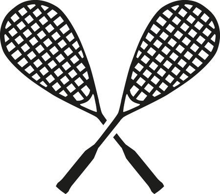 squash: Squash crossed rackets Illustration