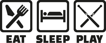 snooker: Snooker - Eat sleep play icons Illustration