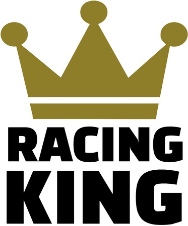 Racing king with crown