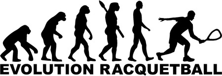 racquetball: evoluci�n Racquetball Vectores