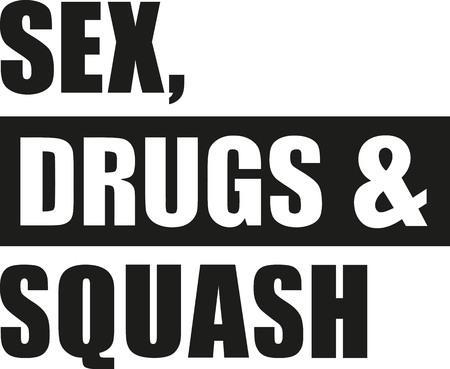nude outdoors: Sex drugs and squash Illustration