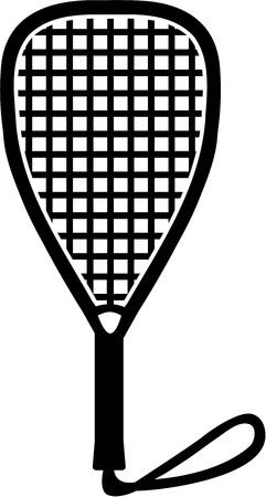 racquetball: bate de racquetball Vectores
