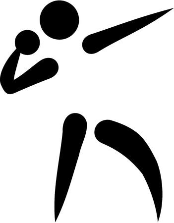 lanzamiento de bala: icono de lanzamiento de peso