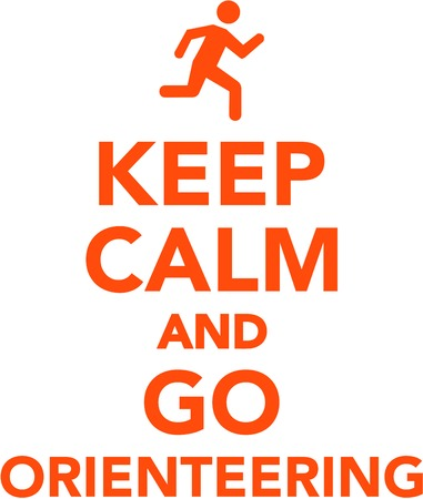 Keep calm and go orienteering Illustration
