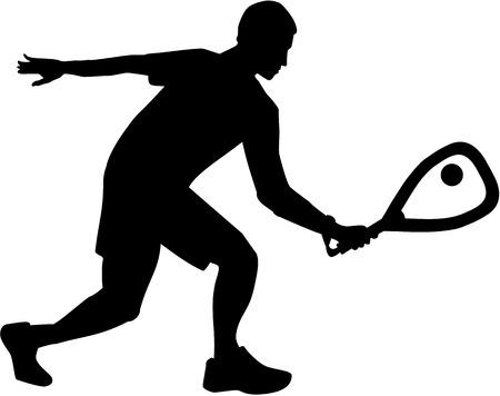 racquetball: silueta racquetball
