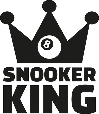 snooker: Snooker king with crown