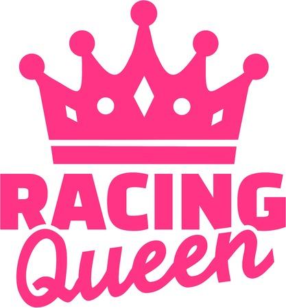 Racing queen Stock Vector - 52019314