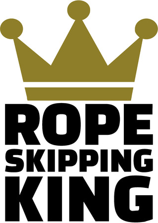 skipping: Rope Skipping King with crown Illustration