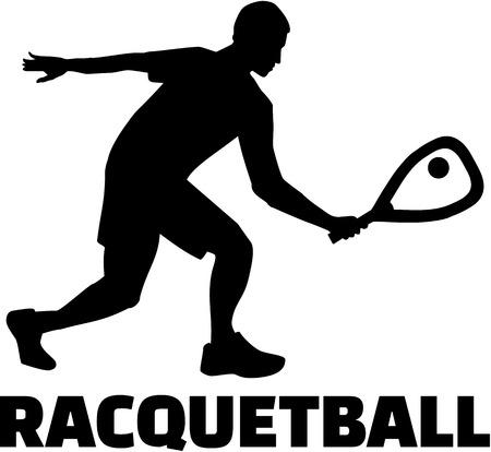 racquetball: jugador de raqueta Vectores