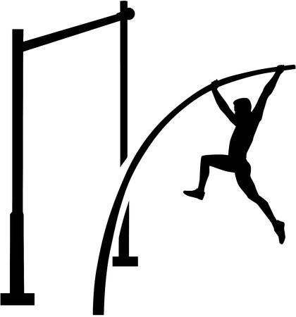 pole vault: Pole vault athlete