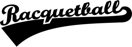 racquetball: Racquetball word Vectores
