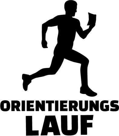 orienteering: Orienteering with silhouette german