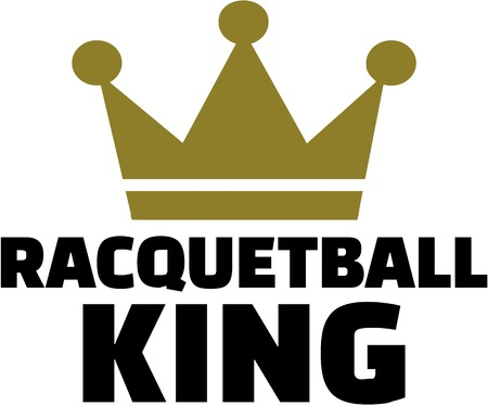 racquetball: Racquetball king with crown
