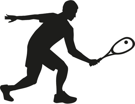 Squash player silhouette
