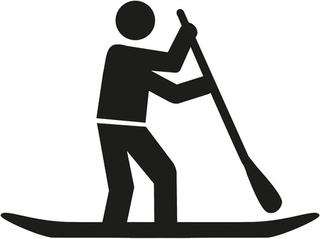 Stand up paddle pictogramme Vecteurs