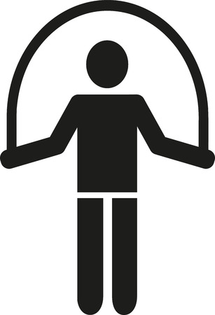 skipping rope: Skipping rope pictogram