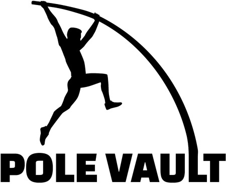 Pole vaulter with flexible pole
