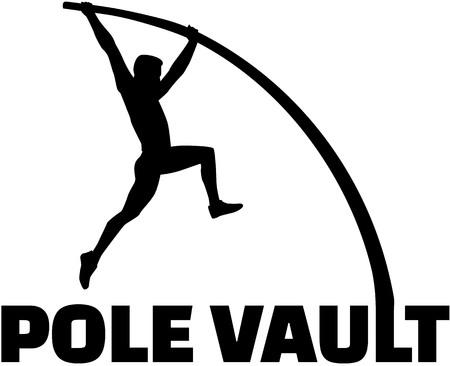 pole vault: Pole vaulter with flexible pole
