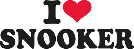 I love snooker