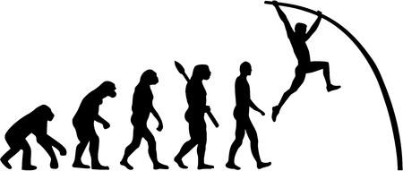 pole vault: Evolution Pole vault