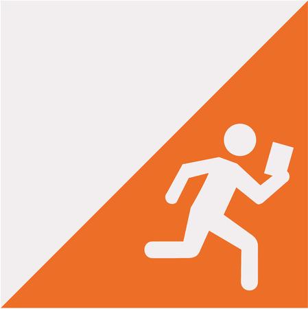 bandera de orientación con pictograma Ilustración de vector