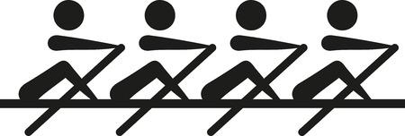 Roeien - coxeless vier icon