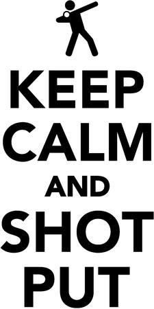 put: Keep calm and shot put Illustration