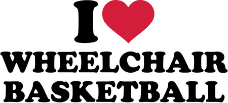 rehab: I love Wheelchair basketball Illustration