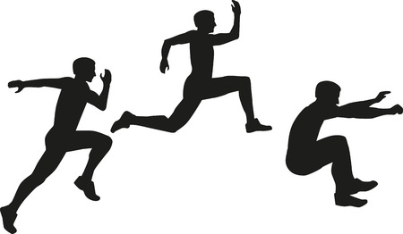 triple: Triple jump icon Dreisprung Illustration