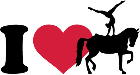 vaulting: I love Horse Vaulting silhouette
