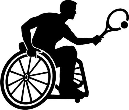 Wheelchair Tennis silhouette