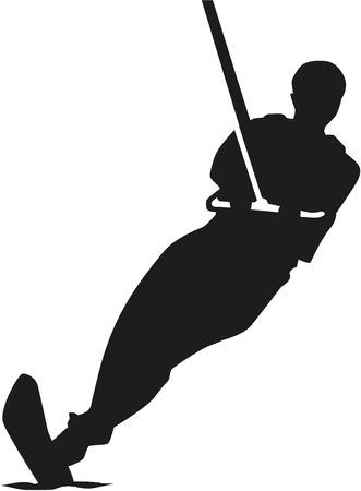 Water skiing silhouette
