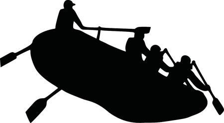 Rafting silhouette
