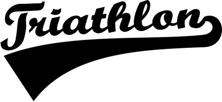 triathlon: Triathlon word retro
