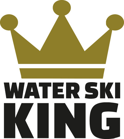 waterskiing: Water ski king with crown