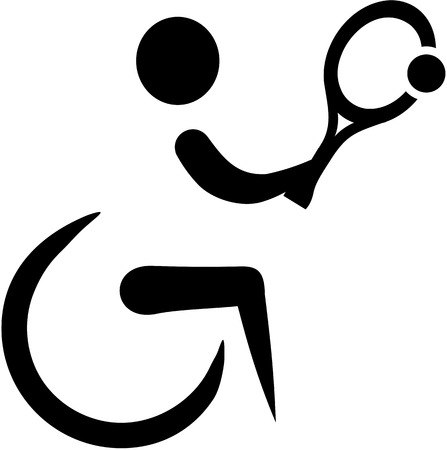 icono deportes: Tenis en silla de ruedas icono