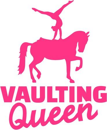 vaulting: Horse Vaulting queen
