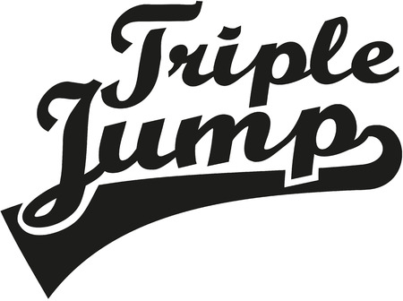 triple: Triple jump word retro Dreisprung