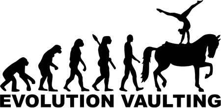 vaulting: Horse Vaulting Evolution Illustration