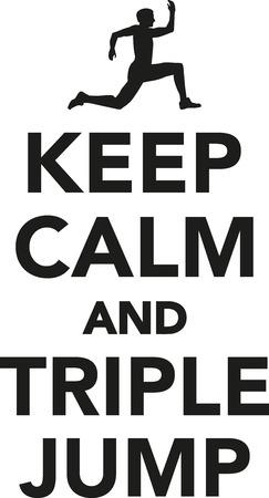 triple: Keep calm and triple jump Illustration