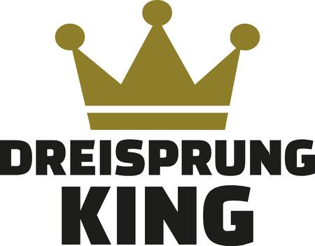 triple: Triple jump king german Dreisprung