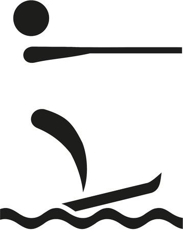 water skiing: Water skiing symbol