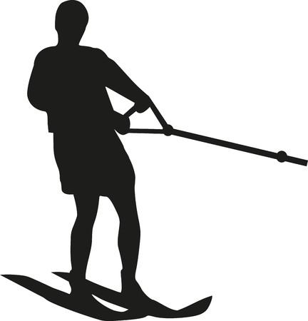 water skiing: Water skiing man