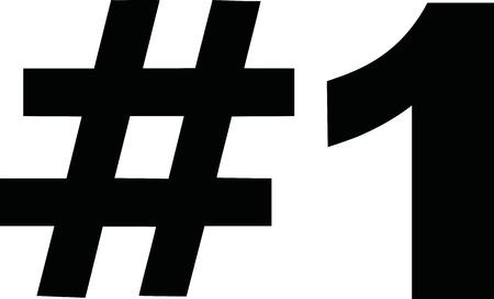 Zwarte nummer een pictogram # 1