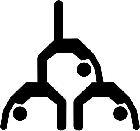 the acrobatics: La acrobacia de triple icono