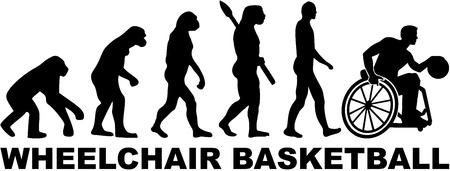 sapiens: Evolution wheelchair basketball Illustration