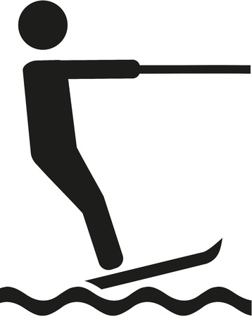 Water skiing pictogram