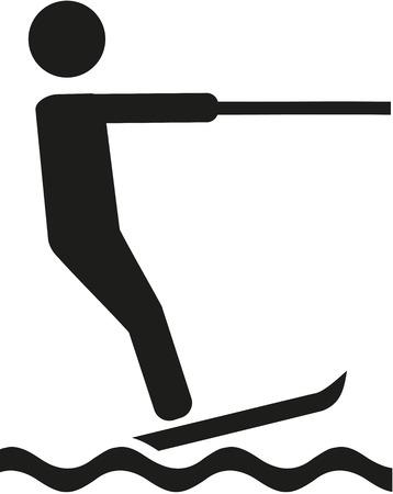 water skiing: Water skiing pictogram
