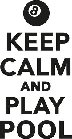 Keep calm and play pool 向量圖像