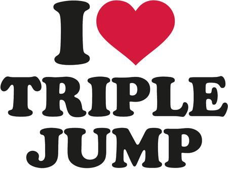 I love Triple jump Dreisprung